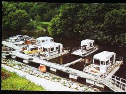 CHATEAUNEUF DU FAOU Le Port Du Canal  (Finistère) Bateau Bac  - Caravane  1987 - Châteauneuf-du-Faou