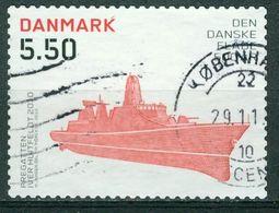 Bm Denmark 2010 MiNr 1584 A (13½:13¼) Used   500th Anniv Of Royal Danish Navy. Iver Huitfeldt (frigate) - Denemarken