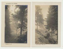 Lot De 2 Cartes - Paysages De France - Vosges - Brume D'été Et Givre - Non Classés