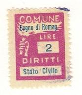COMUNE  DI BAGNO DI ROMAGNA   - MARCA COMUNALE  LIRE  2 - Fiscales