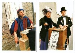 10  Cartes  Joueurs Orgue De Barbarie Nommés Ile Tudy  Tirage Limité Aventure Carto 1990  état Superbe - Music And Musicians