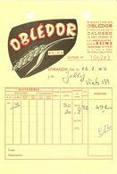 FACTURE 1966 BISCOTTERIE OBLÉDOR Éts CALOSSO 29 ROUTE NATIONALE LA NEUVILETTE Les REIMS - Levensmiddelen