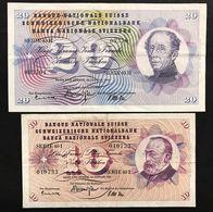 Svizzera 10+20 Francs Franken Franchi 1965 LOTTO 1486 - Svizzera
