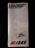 COMPAGNIE SAS HORAIRES ANNEE 1984 - Timetables