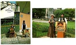 2 Cartes  Joueurs Orgue De Barbarie Nommés Montmartre 1985  état Superbe - Music And Musicians