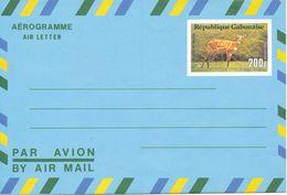 Republique Gabonaise Aerogramme Air Letter 200 F Antilope In Mint Condition - Gabon (1960-...)