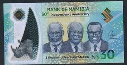 NAMIBIA NLP 30 DOLLARS 2020 COMMEMORATIVE UNC. - Namibië