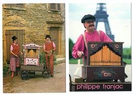 5 Cartes  Joueurs Orgue De Barbarie Corvol Lyon Paris Malzeville... état Superbe - Music And Musicians