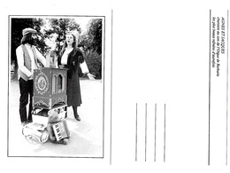 2 Cartes  Joueurs Orgue De Barbarie Agnes Et Jacques ... état Superbe - Music And Musicians
