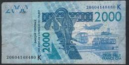 W.A.S.SENEGAL  P716Kt 2000 FRANCS (20)20 2020 Have  7 P.h. FINE - West African States