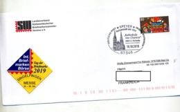 Lettre Cachet Speyer Jumelage Cathedrale De Chartres - Marcofilie - EMA (Printmachine)