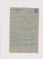 HOTEL PENSION LE CANNET (A M) Pour CHALEY (AIN) 14 5 1947 - 1921-1960: Moderne