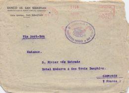 075 Freistempel Cover San Sebastian - Grenoble 1942 - Machine Stamps (ATM)