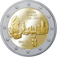 Malta 2020  2 Euro Commemo Tempels Van Ta'Skorba-Temples De Ta'Skorba UNC Uit De Rol-UNC Du Rouleaux !!!! ZELDZAAM-RARE - Malta
