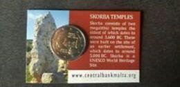 Malta 2020  2 Euro Commemo Tempels Van Ta'Skorba-Temples De Ta'Skorba In COINCARD Met MMT Hoorntje Poinçon Corne !! - Malte