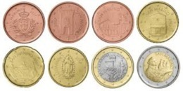 San Marino 2020  De Volledige Set Van 1ct Tot 2 Euro Uit De BU - Les 8 Pièces UNC Du Coffret  !!! - San Marino