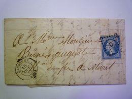 2020 - 6817  LETTRE Au Départ De CARBONNE à Destination De MURET  18 OCT 1862   XXX - 1849-1876: Classic Period