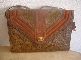 SAC A MAIN EN CROCO - VINTAGE - Purses & Bags
