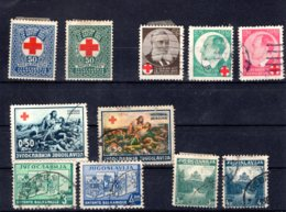 Jugoslawien   Kleine Sammlung  Rotes Kreuz + Entente - Used Stamps
