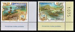 "SERBIA/Serbien EUROPA 2020 ""Ancien Postal Routes"" Set Of 2v** - 2020"