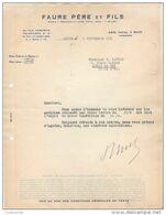08 REVIN COURRIER 1935 FAURE Père Et Fils   * K26 Ardennes - France