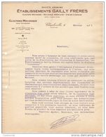 08 CHARLEVILLE MEZIERES COURRIER 1931 Ets GAILLY Frères CLOUTERIE Mécanique     * K26 Ardennes - France