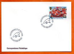 GRANDE BRETAGNE   PHILEXFRANCE 1989  Lettre Entière N° RS 85 - Briefe U. Dokumente