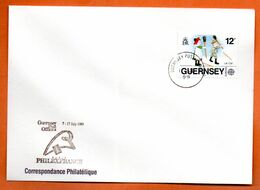 GUERNESEY   PHILEXFRANCE 1989  Lettre Entière N° RS 88 - Guernsey