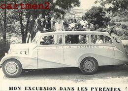 AUTOMOBILE CAMION AUTOBUS D'EXCURSION A LOURDES VOITURE BUS CAR PYRENEES 65 - Automobile