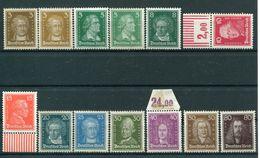 Deutsches Reich Weimar - Michel 385-397 Pfr.**/ungebr.*/ungebr.(*) - Neufs