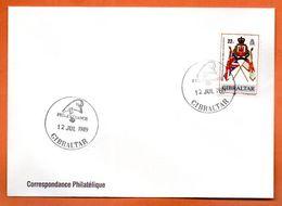 GIBRLATAR    PHILEXFRANCE 1989  Lettre Entière N° RS 90 - Gibraltar
