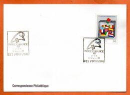 PORTUGAL    PHILEXFRANCE 1989  Lettre Entière N° RS 91 - Briefe U. Dokumente