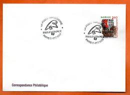 NORVEGE   PHILEXFRANCE  1989 Lettre Entière N° RS 98 - Briefe U. Dokumente