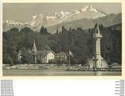 Cpa Cpsm Suisse. Genève. Le Phare Et Mont Blanc - GE Genève