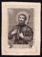 Santino/incisione/engraving: S. FRANCESCO SAVERIO - Religione & Esoterismo
