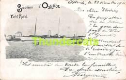 CPA OOSTENDE OSTENDE  L'ALBERTA YACHT ROYAL SOUVENIR D'OSTENDE ( PLIS - PLOOIEN ) - Oostende