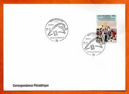 SAN MARIN PHILEXFRANCE  1989 Lettre Entière N° RS 103 - Briefe U. Dokumente