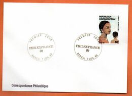 REPUBLIQUE CENTRAFRICAINE   PHILEXFRANCE  1989 Lettre Entière N° RS 106 - Zentralafrik. Republik