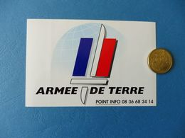 INSIGNE / AUTOCOLLANT ARMEE DE TERRE / ORIGINAL - Army & War