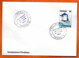 SENEGAL   PHILEXFRANCE  1989 Lettre Entière N° RS 110 - Senegal (1960-...)