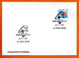 ETATS UNIS   PHILEXFRANCE  1989 Lettre Entière N° RS 115 - Briefe U. Dokumente