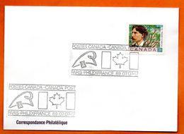 CANADA   PHILEXFRANCE  1989 Lettre Entière N° RS 116 - Briefe U. Dokumente