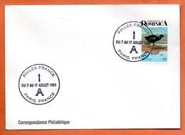 DOMINIQUE   PHILEXFRANCE  1989 Lettre Entière N° RS 121 - Dominica (1978-...)