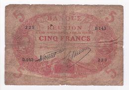 Réunion 5 Francs Cabasson ND 1938. Pick 14-7. Signature Poulet / Ninon. - Réunion