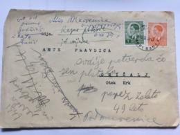 YUGOSLAVIA 1941 Cover Novi Sad Serbia To Omisalj Croatia - Lettres & Documents