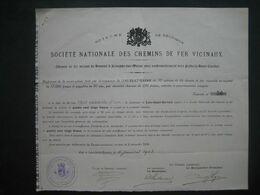 Action 1903 Commune De LENS-SAINT-SERVAIS  Pr Le CHEMIN DE FER VICINAL DE HANNUT à JEMEPPE Vers FEXHE-LE-HAUT-CLOCHER - Chemin De Fer & Tramway
