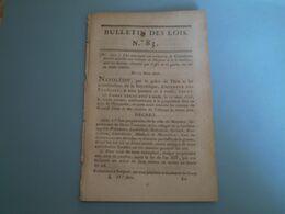 Napoléon:Conseil Des Prud'hommes à Lyon;Canton Durtal;réparation Port De Puer;Latour Maubourg Au Sénat - Wetten & Decreten