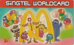 """SINGAPORE - McDonald""""s, Singtel Prepaid Card $10, Exp.date 01/01, Used - Singapour"""