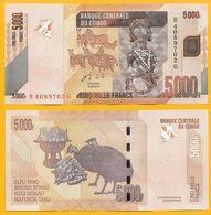 Congo 5000 Francs P-102b 2013 UNC Banknote - Zonder Classificatie
