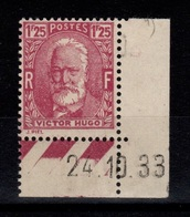 YV 293 N** Petit Coin Daté Victor Hugo Cote 13+ Euros - Nuevos